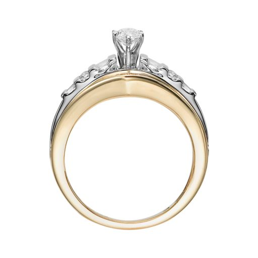 Lovemark 10k Gold 1 Carat T.W. Diamond Marquise Ring