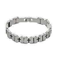 1913 Men's Stainless Steel Cross Bracelet
