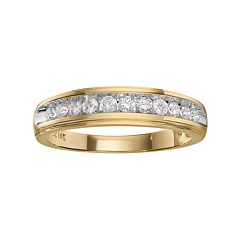 Lovemark 14k Gold Two-Tone 3/8 ctT.W. Certified Diamond Wedding Band