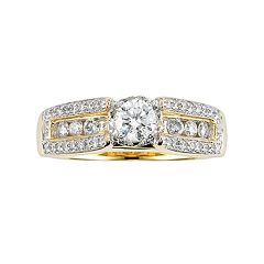 Lovemark Round-Cut Diamond Engagement Ring in 10k Gold (1 ctT.W.)