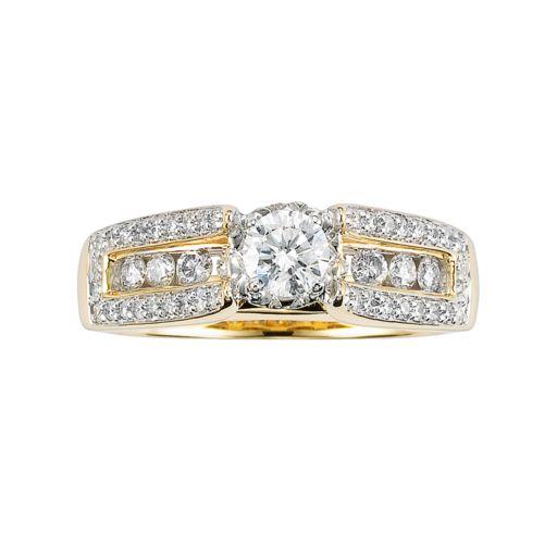 Lovemark Round-Cut Diamond Engagement Ring in 10k Gold (1 ct. T.W.)