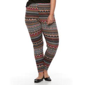 Plus Size French Laundry Holiday Printed Legging