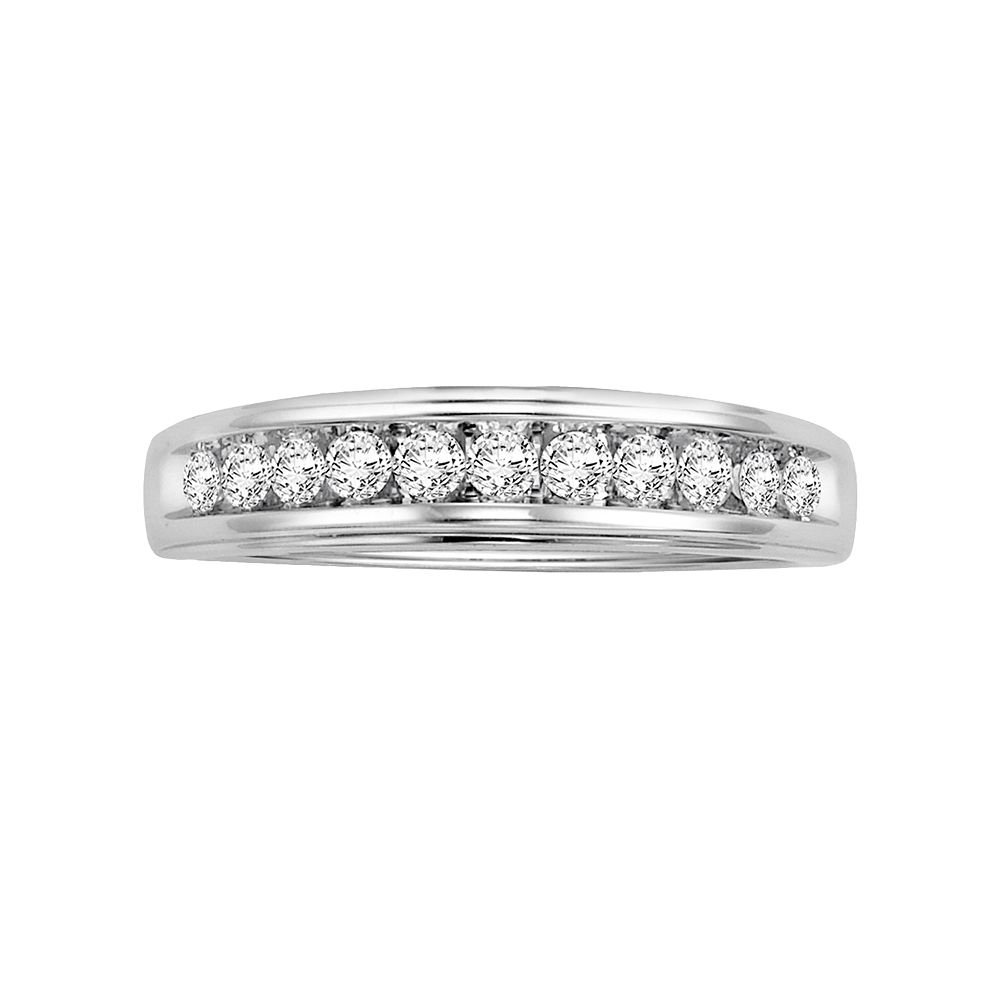Lovemark 14k White Gold 3/8-ct. T.W. Certified Round-Cut Diamond Wedding Ring