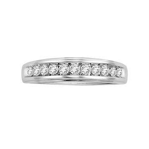 Lovemark 14k White Gold 3/8-ct. T.W. Certified Round-Cut Diamond Wedding Ring