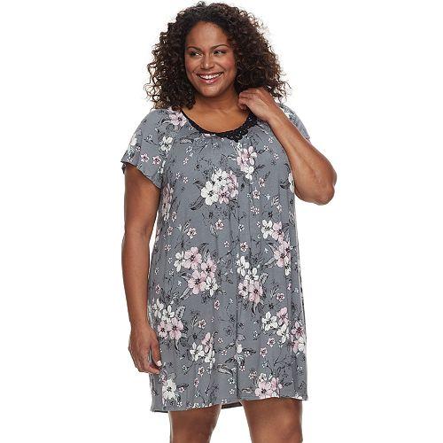Plus Size Croft & Barrow® Scoopneck Night Gown