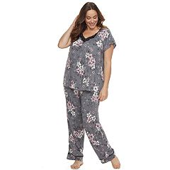 Plus Size Croft & Barrow® Scoopneck Sleep Set