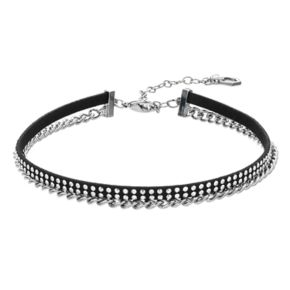 Simply Vera Vera Wang Rhinestone Studded Chain Choker Necklace