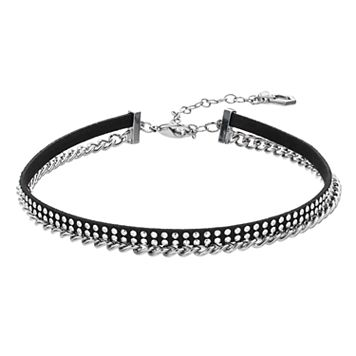 Simply Vera Vera Wang Rhinestone Studded Chain Choker Necklace