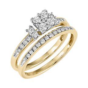 Lovemark Diamond Engagement Ring Set in 10k Gold (1/2 Carat T.W.)