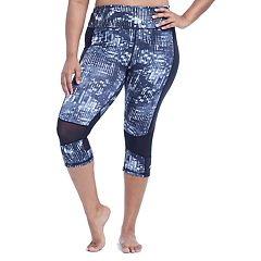 Plus Size Marika Duplex Reversible High-Waisted Capri Leggings