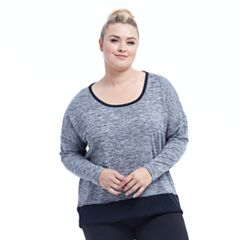 Plus Size Balance Collection Alexa Long Sleeve Top
