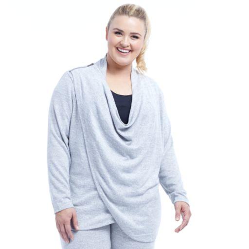 Plus Size Balance Collection Celeste Wrap Cardigan