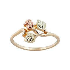 Black Hills Gold Tri Tone Rose Ring