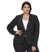 Plus Size Apt. 9® Torie Satin Collar Blazer