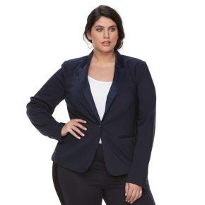 Plus Size Apt. 9® Torie Satin Collar Blazer