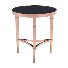 Zuo Modern Elite Rose Gold Finish End Table