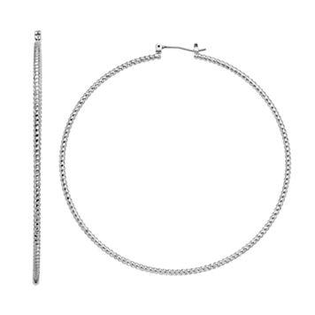 Simply Vera Vera Wang Corkscrew Texture Nickel Free Hoop Earrings