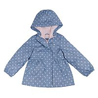 Baby Girl Carter's Floral Print Fleece Lined Jacket