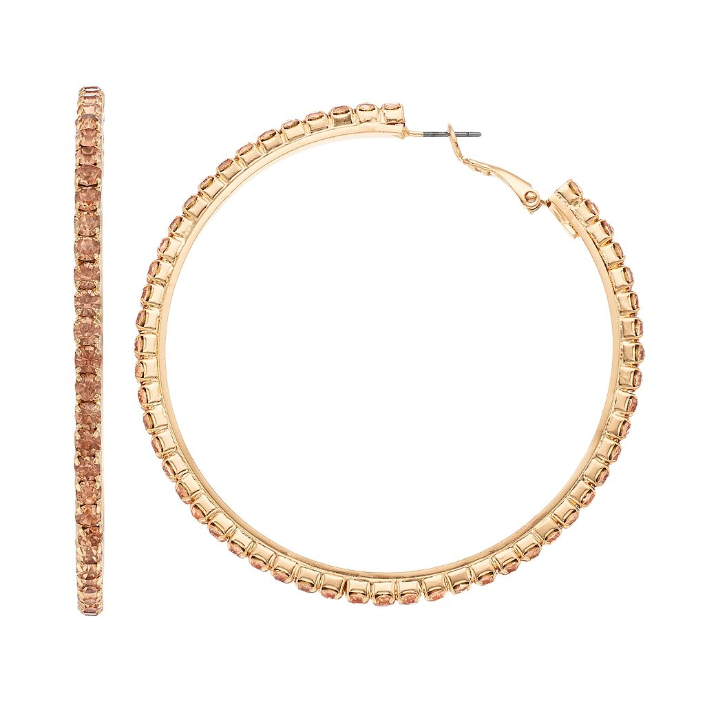 Simply Vera Vera Wang Cup Chain Hoop Earrings