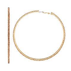 Simply Vera Vera Wang Cup Chain Hoop Earrings