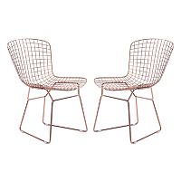 Zuo Modern Rose Gold Finish Dining Chair 2 pc Set