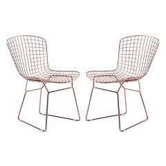 Zuo Modern Rose Gold Finish Dining Chair 2-piece Set