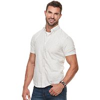 Men's SONOMA Goods for Life™ Modern-Fit Linen-Blend Button-Down Shirt