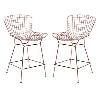 Zuo Modern Rose Gold Finish Counter Stool 2 pc Set