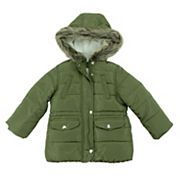 Baby Girl Carter's Heavyweight Faux-Fur Hooded Coat
