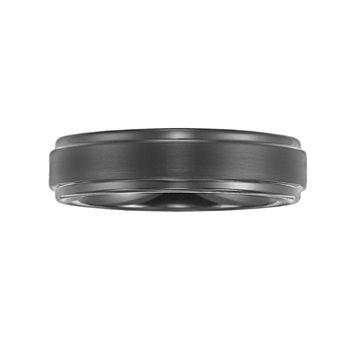 Lovemark Tungsten Carbide Black Ion Men's Wedding Band