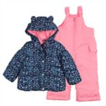 Baby Girl Carter's Heavyweight Jacket & Bib Snow Pants Set