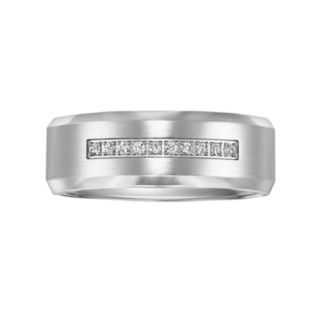 Lovemark Cobalt 1/10-ct. T.W. Diamond Men's Wedding Band