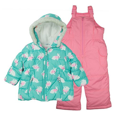 Baby Girl Carter's 2-pc. Graphic Snowsuit