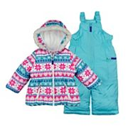 Baby Girl Carter's 2 pc Graphic Snowsuit