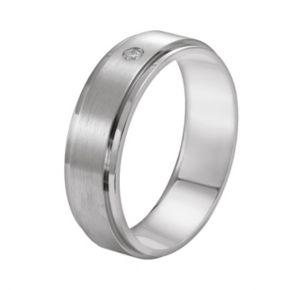 Lovemark Titanium Diamond Accent Wedding Band