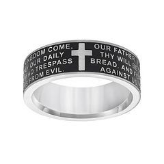 Lovemark Stainless Steel Lord's Prayer Band