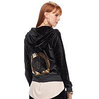 Women's Juicy Couture Velour Graphic Jacket