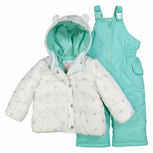 74a94e220c6 Baby Girl Carter's 2-pc. Star Print Snowsuit