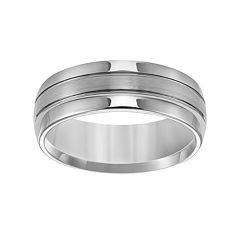 Lovemark Tungsten Groove Men's Wedding Band