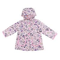 Baby Girl Carter's Midweight Rainy Day Scribble Art rain Jacket