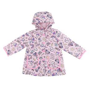 Baby Girl Carter's Midweight Rainy Day Scribble Art rain Jacket