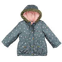 Baby Girl OshKosh B'gosh® Heavyweight Heart Print Jacket