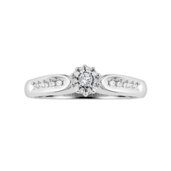 Lovemark Round-Cut Certified Diamond Engagement Ring in 10k White Gold (1/5 ct. T.W.)