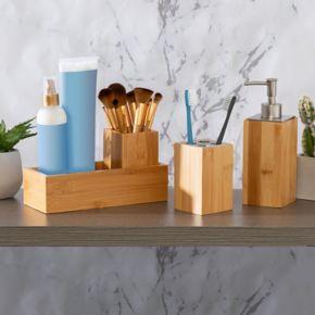 Honey-Can-Do Bamboo 4-piece Bath Accessory Set
