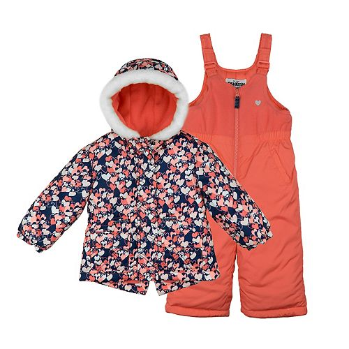 Baby Girl OshKosh B'gosh 2-pc. Heart Print Snowsuit