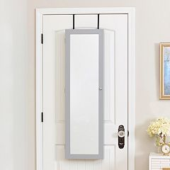 InnerSpace Over-The-Door & Wall Mirror Jewelry Armoire
