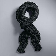 Simply Vera Vera Wang Chunky Ribbed Knit Skinny Scarf