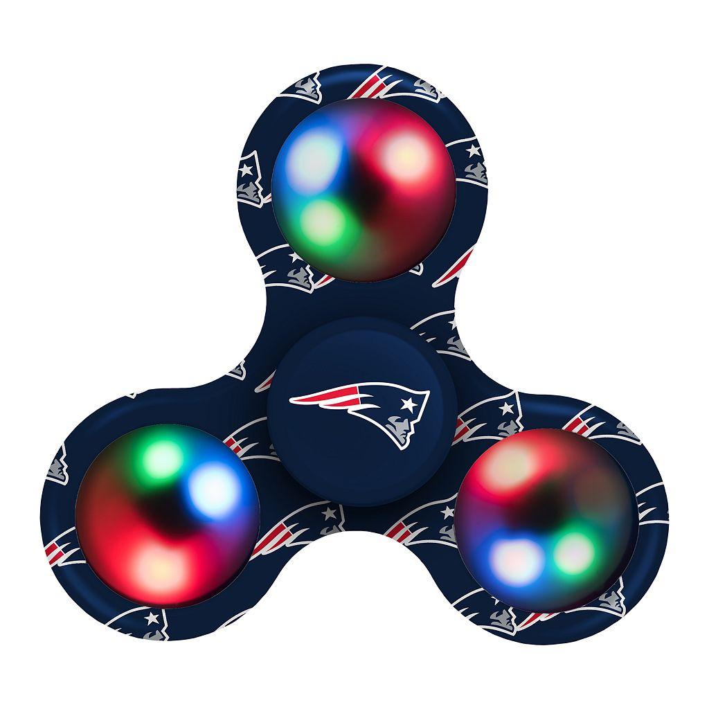 New EnglandPatriots Diztracto Light-Up Fidget Spinner Toy