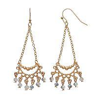 LC Lauren Conrad Shaky Bead Nickel Free Chandelier Earrings