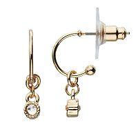 LC Lauren Conrad Milgrain Drop Nickel Free Hoop Earrings
